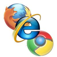 Firefox, Chrome e Internet Explorer